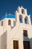 Orthodoxe kerk, Santorini, Griekenland Royalty-vrije Stock Foto's