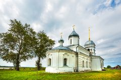 Orthodoxe Kerk ter ere van de Heilige apostelen Peter en Paul CH Stock Afbeeldingen