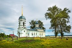 Orthodoxe Kerk ter ere van de Heilige apostelen Peter en Paul CH Royalty-vrije Stock Foto