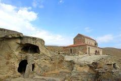 Orthodoxe kerk in Uplistsikhe stock fotografie