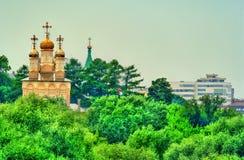Orthodoxe kerk van de Transfiguratie in Ryazan, Rusland royalty-vrije stock fotografie
