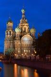 Orthodoxe Kerk van de Verlosser op Gemorst Bloed Stock Fotografie