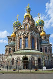 Orthodoxe kerk van de Verlosser op Gemorst Bloed, St. Petersburg Stock Afbeelding