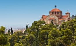 Orthodoxe kerk van Heilige Pavlo in Thessaloniki, Gr. Stock Afbeeldingen