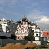 Orthodoxe kerk van het Tikhvin-Pictogram Stock Fotografie