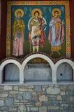Orthodoxe Kerk van Konstantinos On Its Main Facade waar Deze Mooie Schilderijen werden gevonden De Reis van de architectuurgeschi royalty-vrije stock foto's