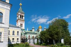 Orthodoxe Kerk van Sinterklaas in Rogozhskaya Sloboda in Moskou, Rusland Stock Foto