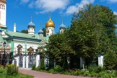 Orthodoxe Kerk van Sinterklaas in Rogozhskaya Sloboda in Moskou, Rusland Stock Afbeelding