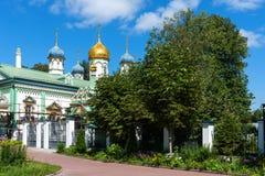 Orthodoxe Kerk van Sinterklaas in Rogozhskaya Sloboda in Moskou, Rusland Royalty-vrije Stock Foto's