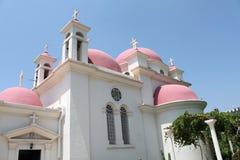 Orthodoxe Kirche bei Capernaum Stockbilder