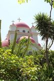 Orthodoxe Kirche bei Capernaum Lizenzfreies Stockbild