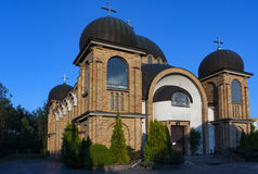 Orthodoxe Kirche in Bialystok Stockfotografie