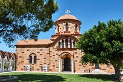Orthodoxe Kirche in der Neo-byzantinischen Art lizenzfreie stockfotografie