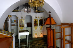 Orthodoxe Kirche des Heiligen Pavlo in Saloniki, GR Stockfotografie