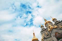 Orthodoxe Kirche in Pochaiv stockbild