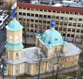 Orthodoxe Kirche in Riga Stockfotografie