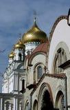 Orthodoxe Kirche in St Petersburg Stockfotografie