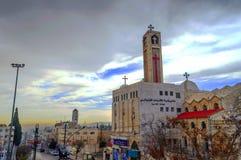Orthodoxe Kirche von Amman Stockfotos