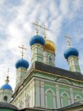 Orthodoxe koepels Stock Foto's