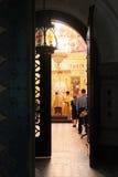 Orthodoxe Messe (cathédrale Saint Nicolas - Wenen - Autriche) Royalty-vrije Stock Fotografie