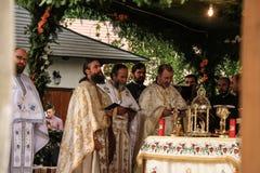 Orthodoxe openluchtmassa stock foto's