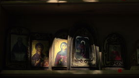 Orthodoxe pictogrammen 4K stock footage