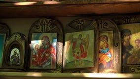 Orthodoxe pictogrammen 4K stock videobeelden