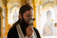 Orthodoxe priester stock foto