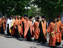 Orthodoxe priesters Stock Foto's