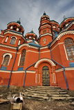 Orthodoxe Russische kathedraal Stock Afbeelding
