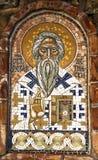 Orthodoxe serbische Ikone des Mosaiks von St Peter von Cetinje in altem Lizenzfreies Stockbild