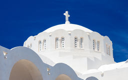 Orthodoxe Stadtkathedrale Fira Santorini Griechenland Lizenzfreie Stockfotos