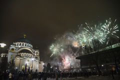Orthodoxe Sylvesterabende Feier Lizenzfreie Stockbilder