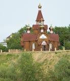 Orthodoxe tempel op de klip Stock Foto