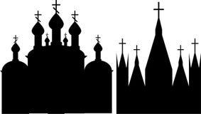 Orthodoxe und katholische christliche Kirchen Lizenzfreies Stockfoto