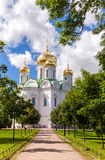Orthodoxer Catherine Kathedrale in Pushkin-Stadt (Tsarskoye Selo) Stockfotografie