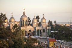 Orthodoxer Gottesdienst, Äthiopien Stockfotografie