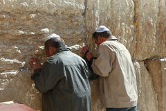 Orthodoxer jüdischer Mann betet an der Westwand Lizenzfreie Stockbilder