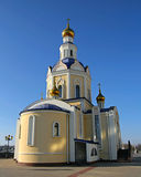 Orthodoxer Tempel. Russische Föderation. Lizenzfreies Stockfoto