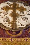 Orthodoxes christliches Kreuz stockfotos