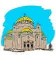 Orthodoxes Kirchengebäude Stockbilder