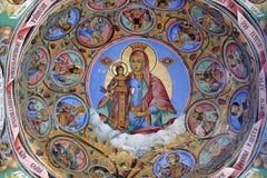 Orthodoxes Kloster - Fresko Stockbild
