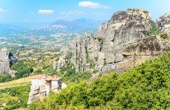 Orthodoxes Kloster in Meteora, Griechenland Lizenzfreie Stockbilder