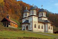 Orthodoxes Kloster in Transylvanien Stockfotos