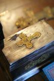 Orthodoxes Kreuz lizenzfreie stockbilder