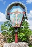 Orthodoxes Kreuz in altem Orhei, Moldau Stockbilder