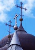 Orthodoxes Kreuz drei lizenzfreie stockfotografie