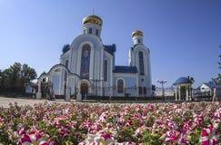 Orthodoxes ukrainiens célèbrent la trinité illustration de vecteur