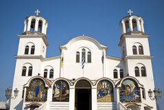 Orthodoxy church in Paralia, Greece Stock Image