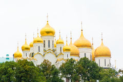Orthodoxy church in Moscow. Photo of Orthodoxy church in Moscow with gold cupolas Stock Images